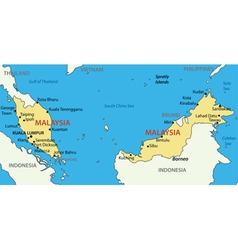 Malaysia - map vector