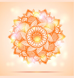 Mandala diwali present card design vector