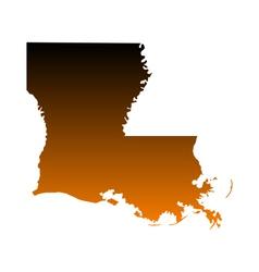 Map of Louisiana vector image