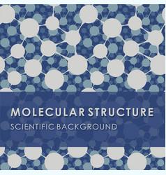 Molecular structure blue scientific background vector