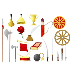 old objects vector image