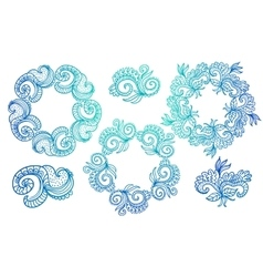 Ornate frames and scroll elements vector
