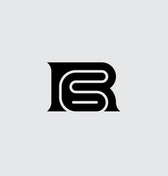 R and 6 - logo r6 - monogram or logotype 6r vector