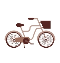 retro bicycle isolated icon design vector image
