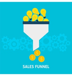 Sales Funnel Converting Ideas into Money Flat vector