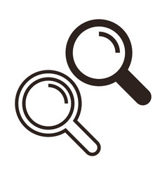 search icon set magnifying glass vector image