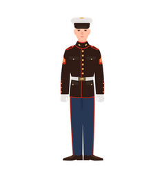 Soldier usa armed force wearing parade uniform vector