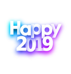 spectrum happy 2019 new year festive background vector image