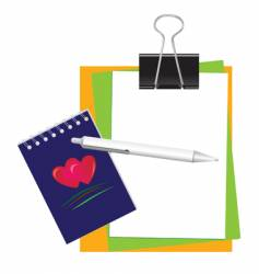 stationery for office and school vector image