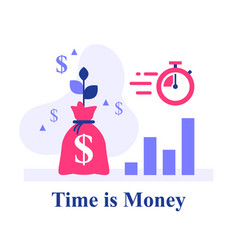 Time is money return on investment vector