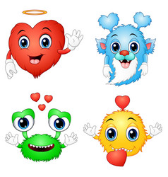 valentine love monsters vector image