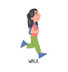 Walk word verb expressing action vector