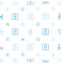 Washroom icons pattern seamless white background vector