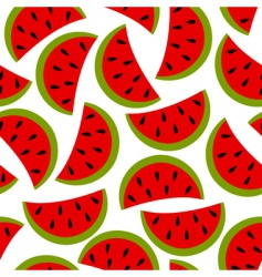 watermelon seamless background vector image