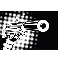 Weapon in hand in the style of pop art vector