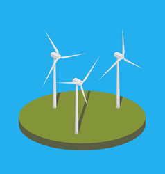 wind power station isometric vector image