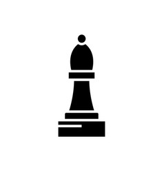chess bishop icon black sign vector image