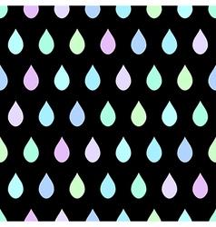 Cool Rain Black Background vector image vector image