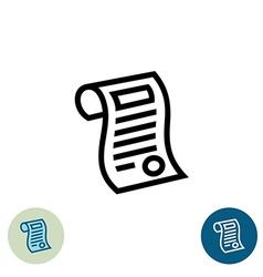 Document outline icon vector image vector image