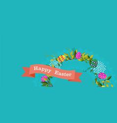 Happy easter spring banner design for celebration vector
