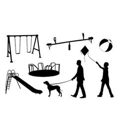 playground elements vector image