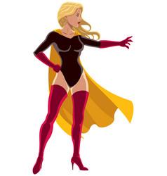 superheroine power vector image