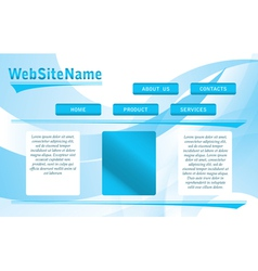 abstract blue and white website template vector image