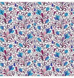 Colorful hand drawn seamless floral pattern vector image vector image