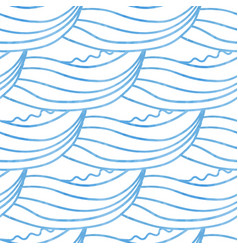 cute waves hand drawn seamless pattern can be vector image