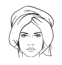 Hand drawn model woman icon vector image