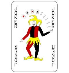 Poker playing card Joker vector image vector image