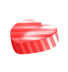 realistic heart lollipop with stripes vector image vector image