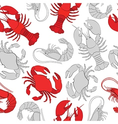 Seafood Lobster crab and prawn vector image vector image