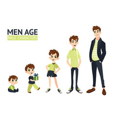 set of characters in cartoon flat style vector image vector image