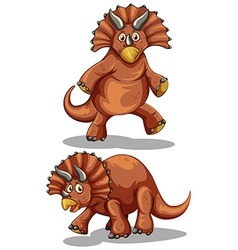 Brown rubeosaurus in two different poses vector image vector image