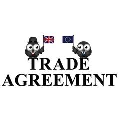 Comical uk eu trade agreement vector