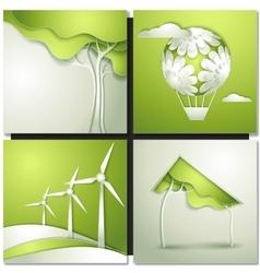 Eco background -go green vector image
