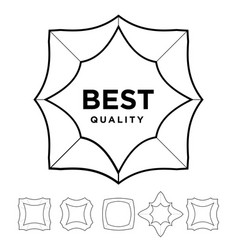medal award best quality stars outline silhouette vector image vector image