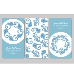 sample business card with flowers vector image