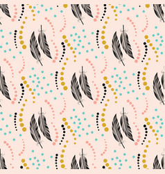 seamless color pattern pattern with big black and vector image vector image
