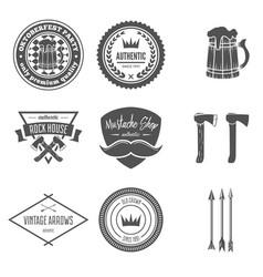 set of vintage logotypes elements labels vector image vector image