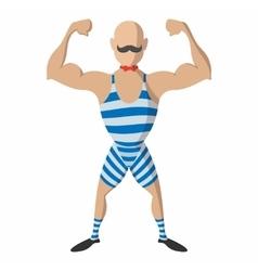 Strong man cartoon vector image