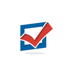 vote and election logo vector image