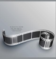 3d camera film strip background vector