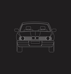 a car front vector image