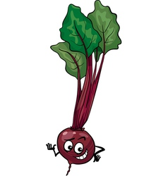 cute beet vegetable cartoon vector image vector image