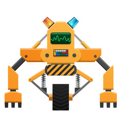 robot with buttons and indicators vector image