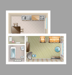 top view apartment interior vector image vector image