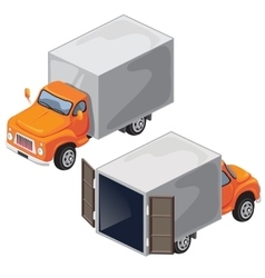 Van with tent for transport of goods vector image