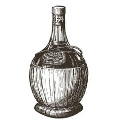 wine bottle logo design template alcohol vector image vector image